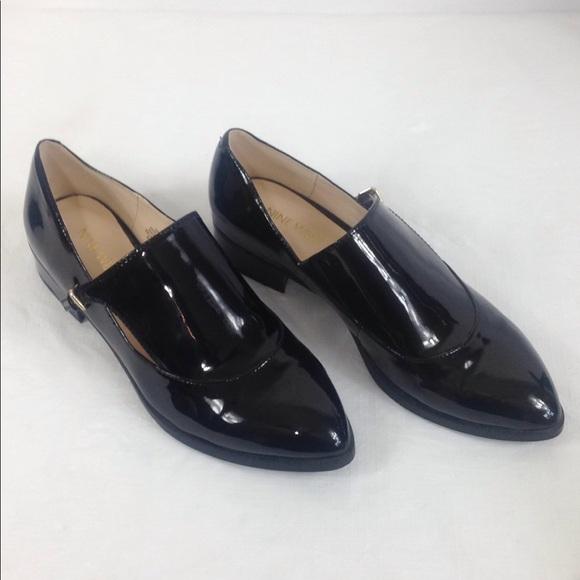Nine West Black Patent Leather Shoes